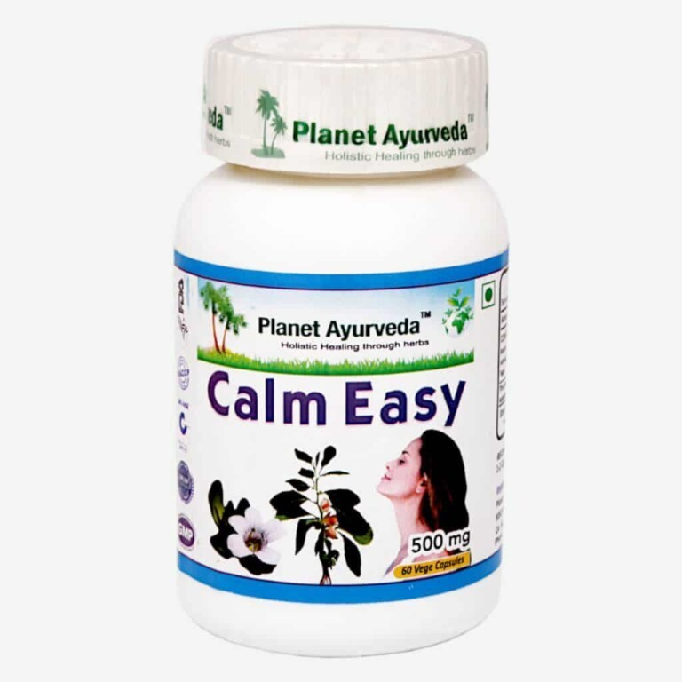 Planet Ayurveda Calm Easy capsules bevatten een combinatie van de beste Ayurvedische kruidenextracten voor het zenuwstelsel. Voor ondersteuning bij een zenuwachtig gevoel en een goede nachtrust.