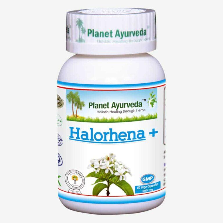 Planet Ayurveda Halorhena Plus (Kutaj) capsules, bij colitus ulcerosa en prikkelbare darm syndroom